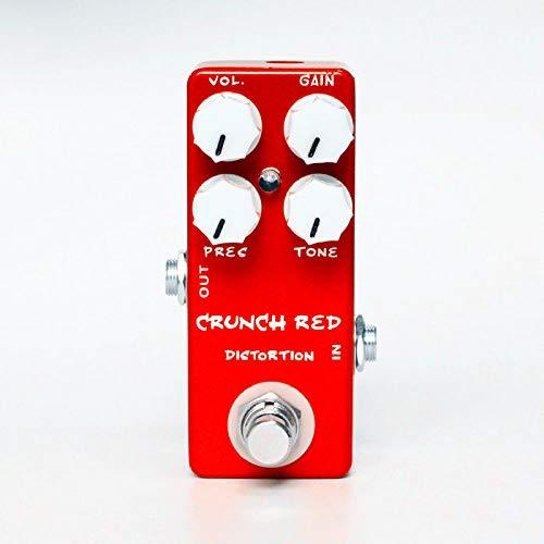 ABMBERTK Distortion Guitar Effect Pedal, Crunch Distortion Micro Guitar Pedal, 9V Effect Pedal Guitar Accessories Part,A