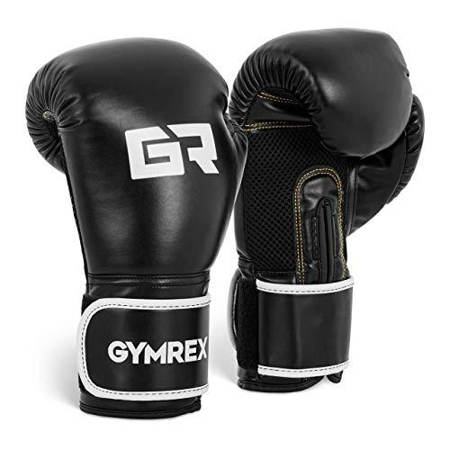 Gymrex GR-BG 16B Boxhandschuhe Kickboxhandschuhe Boxen Handschuhe 16 oz Mesh innen weiß metallic-hellgrau