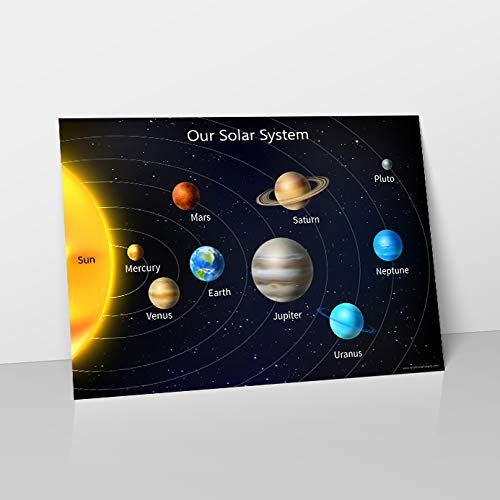 Solar System - Easy to Learn Planets & Space Childrens Wall Chart...