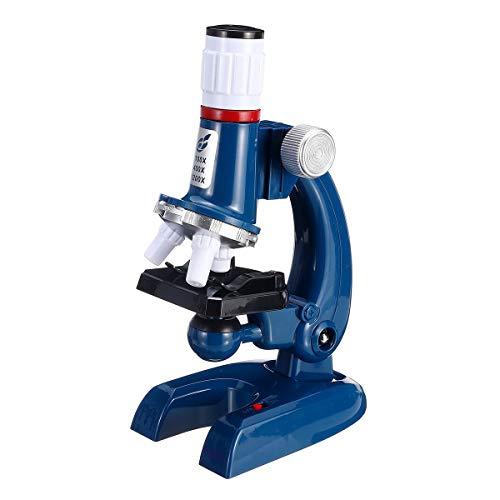 Yhtech 100x 400x 1200x Zoom Iluminado Monocular Niño Niño Microscopio Biológico Establecer Regalo de Juguete Educativo