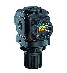 1/4-Inch NPT 0-140 PSI Pressure Range Flush-mount gauge Relieving - standard knob control 59 CFM