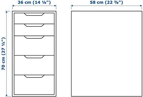 Ikea Drawer Unit, 14 1/8' x 27 1/2', White, Alex 101.928.24