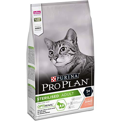 PURINA PRO PLAN STERILISED Adult 1+ Katzenfutter trocken mit OPTIRENAL, reich an Lachs, 1er Pack (1 x 1,5kg)