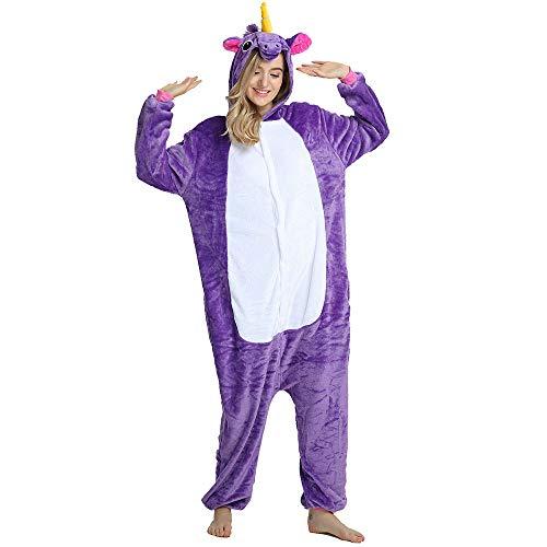 Flanin Cartoon Jumpsuit Inicio,Pijama Mujer Invierno Dos Siamés Piezas,Pijama y Pantalones Largos Pijamas Casual Ropa de Casa Dormir Cálido y Comodo
