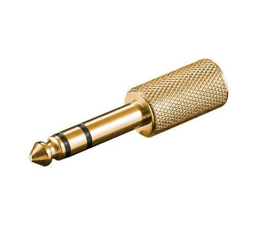 PremiumCord - Adattatore Jack Stereo da 6,3 mm a Jack Stereo 3,5 mm, Jack da 6,3 mm a Jack da 3,5 mm, Placcato Oro
