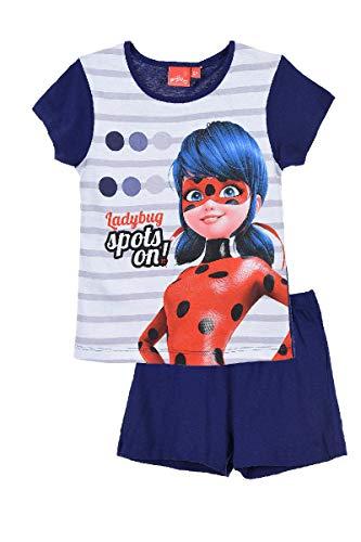 Miraculous Pijama de Manga Corta para niña Ladybug