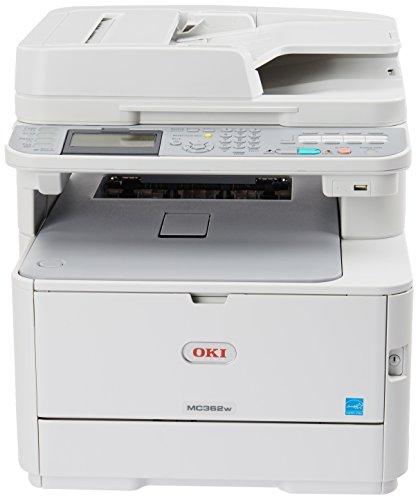 OKI Data MC362w Wireless Duplex Multifunction Color Laser Printer Print, Copy, Scan, Fax, 120V