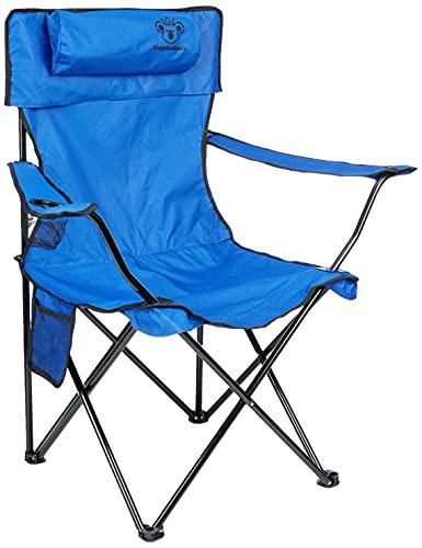 KingsizeKoala Sedia da campeggio Premium | Poltrona da pesca con portabicchieri | Sedia da pesca leggera e durevole | Sedia perfetta per campeggio, festival, camper, escursioni, giardino e spiaggia