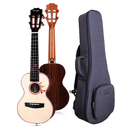 Enya Tenor Ukulele 26 Inch Solid Engelmann Spruce Top with Solid Rosewood Back and Sides Include Gig Bag(EUT-S1)