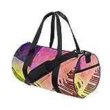 Photo Gallery zomoy barrel bag,bella donna che gioca la tastiera di piano sopra,nuova borsa sportiva cilindro da stampa borse da fitness borsa da viaggio in tela bagagli