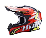 Unik Cx-14 - Casco Cross Speed - Naranja/Fluo, Talla S