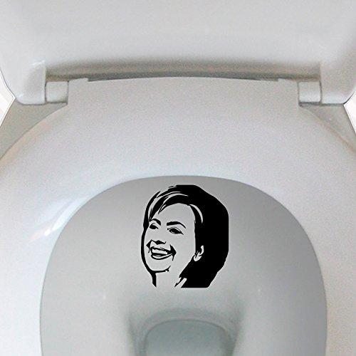 Literally PISS ON HILLARY CLINTON Toilet Bullseye Target Pee Vinyl Decal funny Anti bulls-eye
