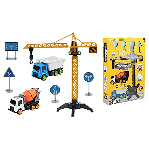 Toy Cars for Kids Engineering Truck Toys Set,City Construction Vehicle Set Toy Excavator Crane Building Educational Playset Gifts for Boys Girls