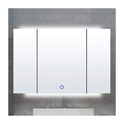 Purchase DZWLYX Bathroom Mirror Bathroom Mirror Cabinet, Stainless Steel Mounted Modern Bathroom Cab...
