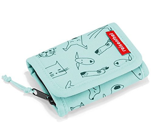 wallet S kids 11,5 x 7,5 x 2 cm cats and dogs mint
