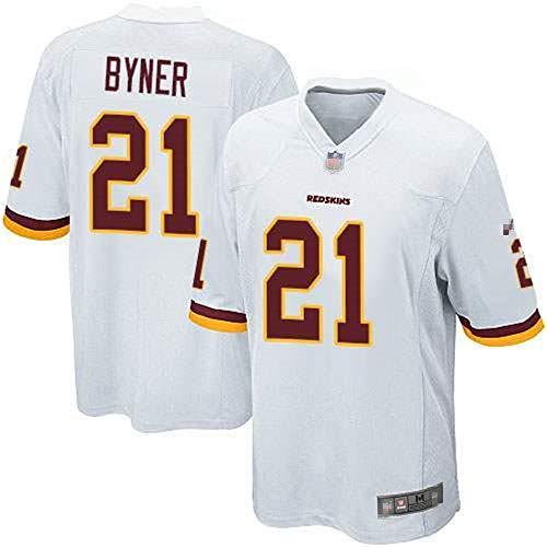 Herren T-Shirt American Football Uniform Washington Byner #21 Football Trikots Gruby Tee Shirts Gr. S, Bild