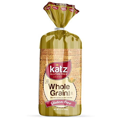 Katz Gluten Free Whole Grain Bread | Dairy, Nut, Soy and Gluten Free | Kosher (1 Pack of 1 Sliced Loaf, 21 Ounce)