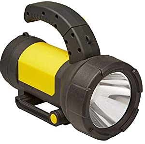 UKB Diall Black & Yellow Integrated IP44 Rechargeable Plastic 190lm LED Torch, 650g