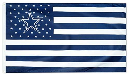 WHGJ Fan Flag for Dallas 3X5 FT USA Flag Sports Banner Indoor and Outdoor