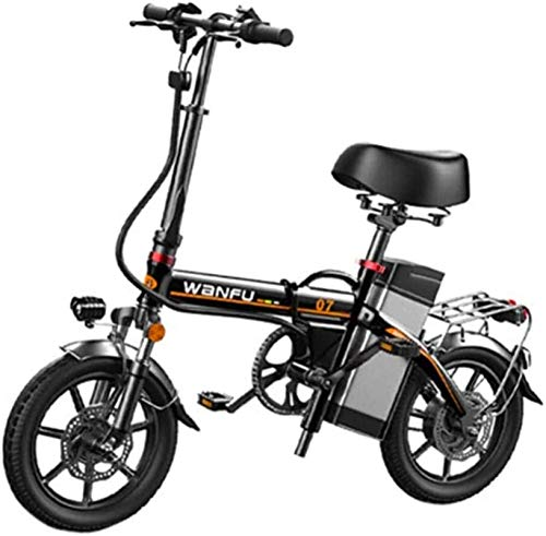 Bicicletas Eléctricas, Bicicletas rápidas y Eléctrica en adultos de 14 pulgadas marco de las ruedas de aleación de aluminio portátil plegable eléctrico Seguridad de la bicicleta for adultos con extraí