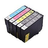 Topuality Cartucho de tinta compatible con de repuesto para 603XL de alto rendimiento Compatible con E-pson Expression Home XP-2100 XP-2105 XP-3100 XP-3105 XP-4100 XP-4105 Work-Force WF-2810 WF-2830