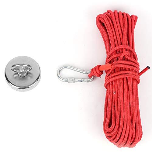 Imán De Elevación De Revestimiento De Tres Capas Para Herramienta De Pesca Con Gancho Electromagnético Con Cuerda Roja N35 De 20 M