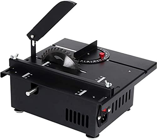 FCPLLTR Mini Sierra de Mesa, Sierra de Mesa de Corte multicípedores, Pulido y Grabado, 4 0MM Profundidad de Corte para Bricolaje Modelo de Madera Hecho a Mano, 22 0V, 1200W, Paquete 1