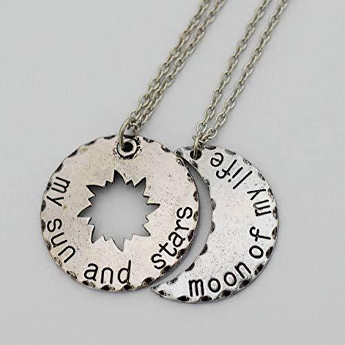 Collares personalizados de Juego de Tronos Daenerys Targaryen Khal Drogo My Sun and Stars, Moon of My Life
