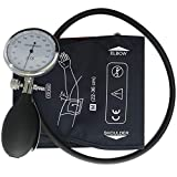 Manual Blood Pressure Cuff, Single Tube Cuff with Pressure Gauge and Inflation Bulb (Adult)
