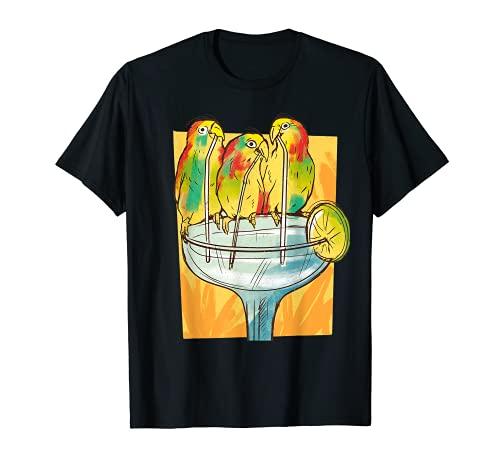 Los Frikis De Aves Aman Los Loros Frozentrópicos Bebiendo Camiseta