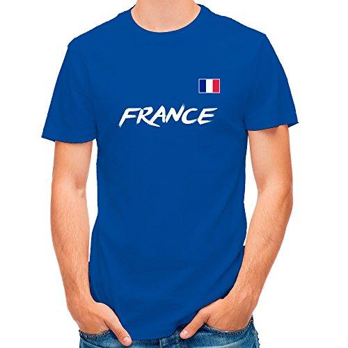 LolaPix Camiseta Francia Personalizada con tu Nombre y Dorsal | Selección Francesa | Varios Diseños Tallas | 100% Algodón | Hombre