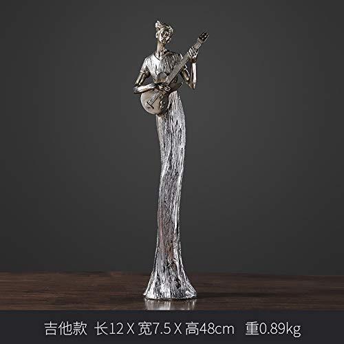YL-adorn art sculptuur creatief vergulde muzikanten gitaar status van het Europese figuurwerk hars karakter artwork voor de woonkamer tafel accessoires Kerstmis cadeau kantoor bar ornamenten