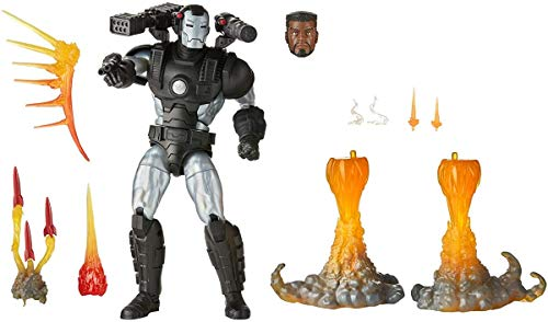 MARVEL Hasbro Legends Series 6-inch Collectible Action Figure Deluxe War Machine Toy, Premium Design and 8 Accessories