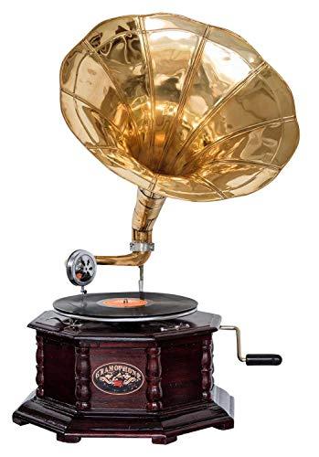 aubaho Nostalgie Grammophon Gramophone Dekoration mit Trichter Grammofon Antik-Stil (f)