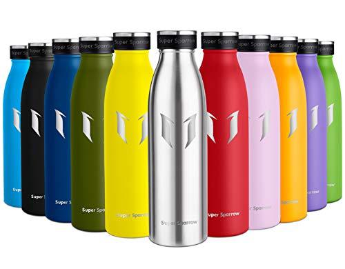 Super Sparrow Borraccia Termica - 500ml | Bottiglia Acciaio Inox Isolamento | Senza BPA - Borracce per Bambini, Scuola, Sport, All'aperto, Palestra, Yoga