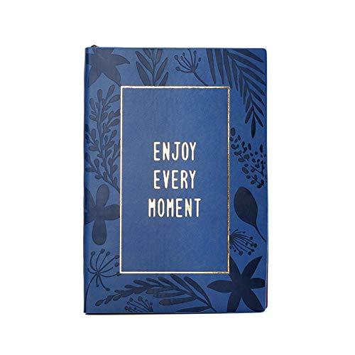Leuke lederen tijdschrift reiziger notitieboek leer Hot stempelen dagelijks Kladblok Planner voor Travel College Office Beste cadeau voor meisje vrouwen A5 A5 Blauw