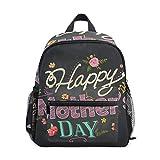 BIGJOKE Mochila para niños, con Cita en inglés Mother Day, diseño Floral, para Viajes, Escuela Primaria, Preescolar, guardería, para niñas y niños