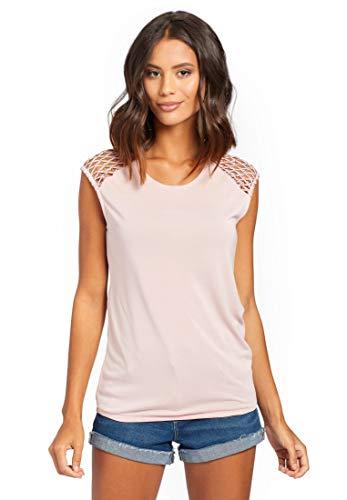 khujo Damen Top MARBY ärmelloses Shirt mit elastischem Saum aus softem Jersey