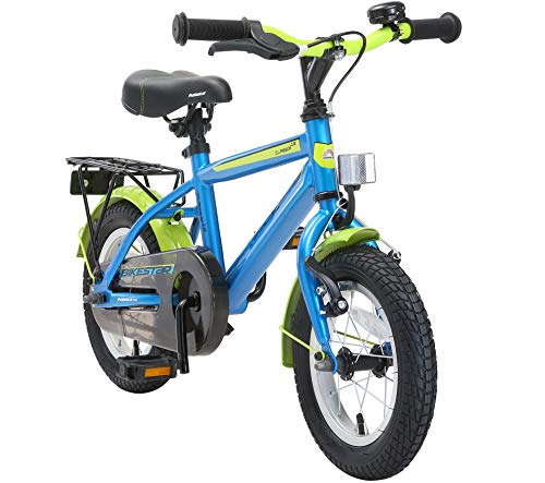 BIKESTAR Vélo Enfant pour Garcons et Filles de 3-4 Ans | Bicyclette Enfant 12 Pouces Moderne avec Freins | Bleu & Vert