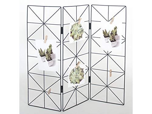 Moderne industriële Foto Rek Staand met knijpers 50x50cm – Inklapbaar - Multi-foto rek - Decoratie – Woonaccessoires – Zwart