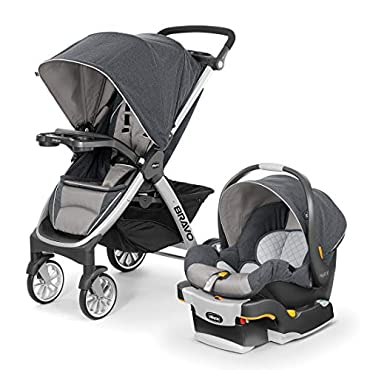 Chicco Bravo Trio Travel System with Stroller and Infant Car Seat, Nottingham