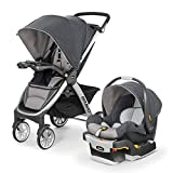 Chicco Bravo Trio Travel System with Full Size Stroller, Convertible Frame Stroller, One-Hand Compact Fold,...