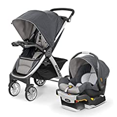 Includes the #1-rated Chicco Key Fit 30 Infant Car seat Detachable stroller seat/Canopy leave behind a lightweight frame Stroller Innovative fold/carry handle for a one-hand, free-standing quick fold Includes child tray with 2 cup holders Multi-posit...
