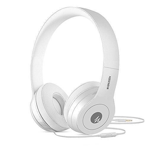 Magnussen Audio W1 hoofdtelefoon, opvouwbaar, verstelbaar, wit glanzend
