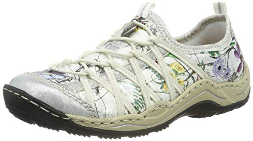 Rieker Damen L0559-81 Sneaker, Mehrfarbig (Ice/Ice-Multi/Ice/Silverflower 81), 40 EU