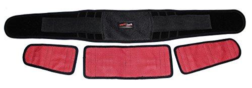 Wärme-Rückengurt Premium mit Turmalin und Magneten, Bandage, Tiefenwärme, selbstwärmend, waschbar, immer wieder verwendbar, Infrarot, Hilfe bei Rückenschmerzen, Rückenwärmer, Rücken (120 cm)