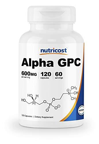 Nutricost Alpha GPC 300mg, 120 Veggie Capsules - Non-GMO and Gluten Free, 600mg per Serving