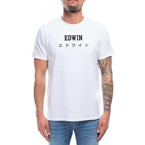 Edwin Japan TS T-Shirt, Bianco (Bianco 267), S Uomo