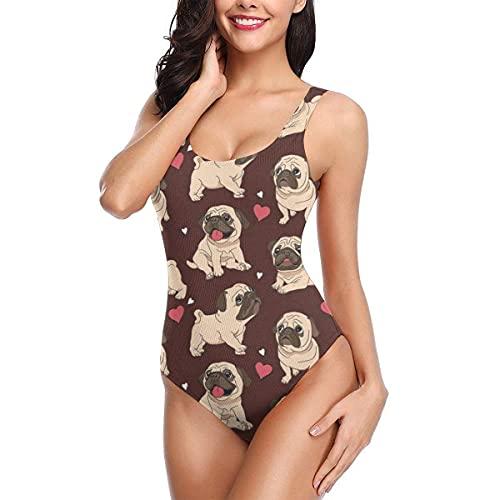 El Bikini de Las señoras del Traje de baño del Traje de baño de una Pieza de Las Mujeres Rojas del Barro Amasado Fija el Traje de baño, S
