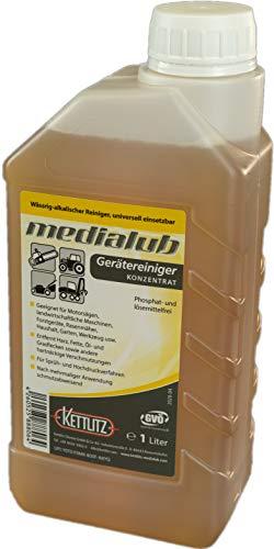 1 Liter KETTLITZ-Medialub Gerätereiniger, Universalreiniger, Sägekettenreiniger, Harzentferner, Harzlöser, Fettlöser, Öllöser, Motorsägen Reiniger, Motorsägenreiniger Kettensägen